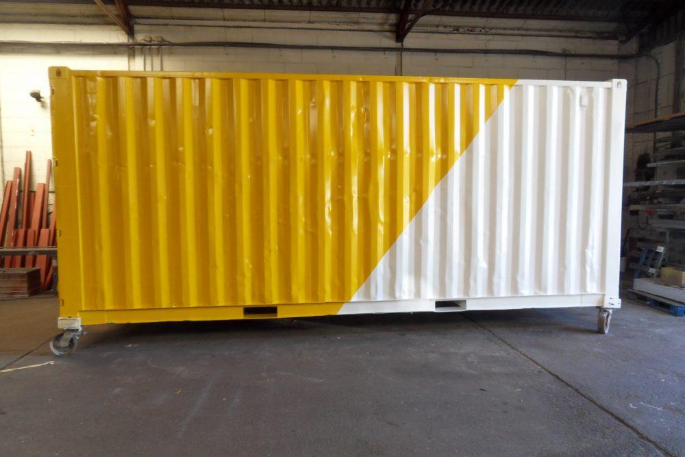 Geschilderde container